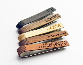 Hidden Message Tie Clip 10th anniversary Tie Clip Anniversary gift tie bars High Quality Tie clip Men/'s Accessories Gold Tie Clip