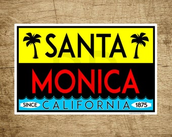 35621ac8f05 Santa Monica California Surfing Decal Sticker Pacific Ocean Beach 4