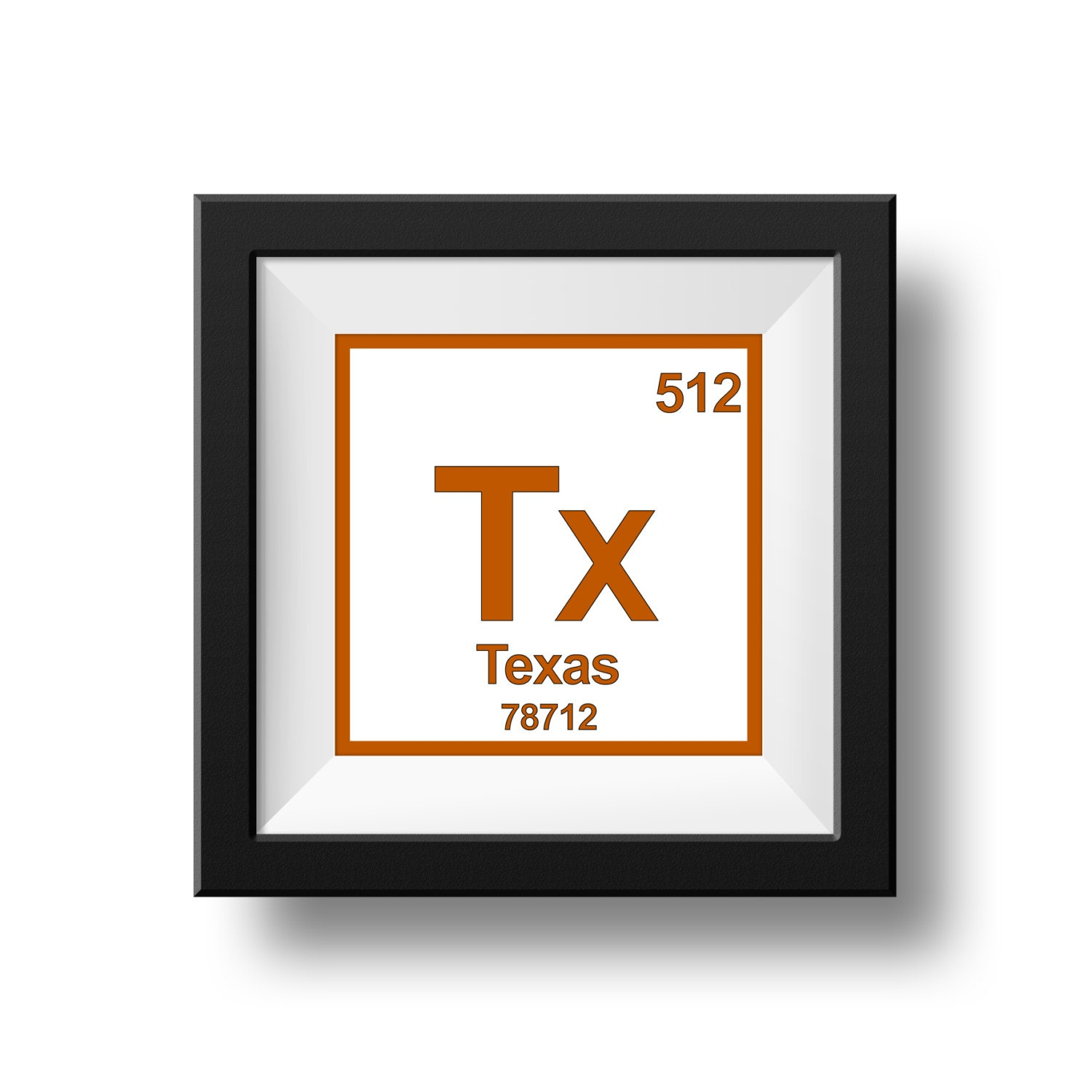 8 X 8 Texas Instant Download Periodic Table Art Etsy