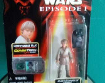 Star Wars Episode 1 Electronic COMMTECH CHIP Anakin Skywalker with Datapad Figure 1998 Star Wars