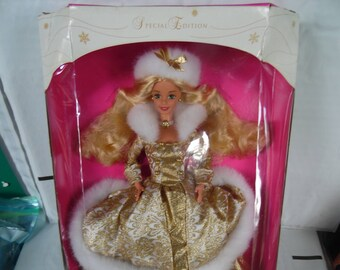 Mattel Winter Fantasy Special Edition Barbie Doll Blonde Hair