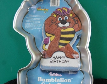Baking Accs. & Cake Decorating Wilton Cake Pan Bumblelion 1985 Hasbro Disney