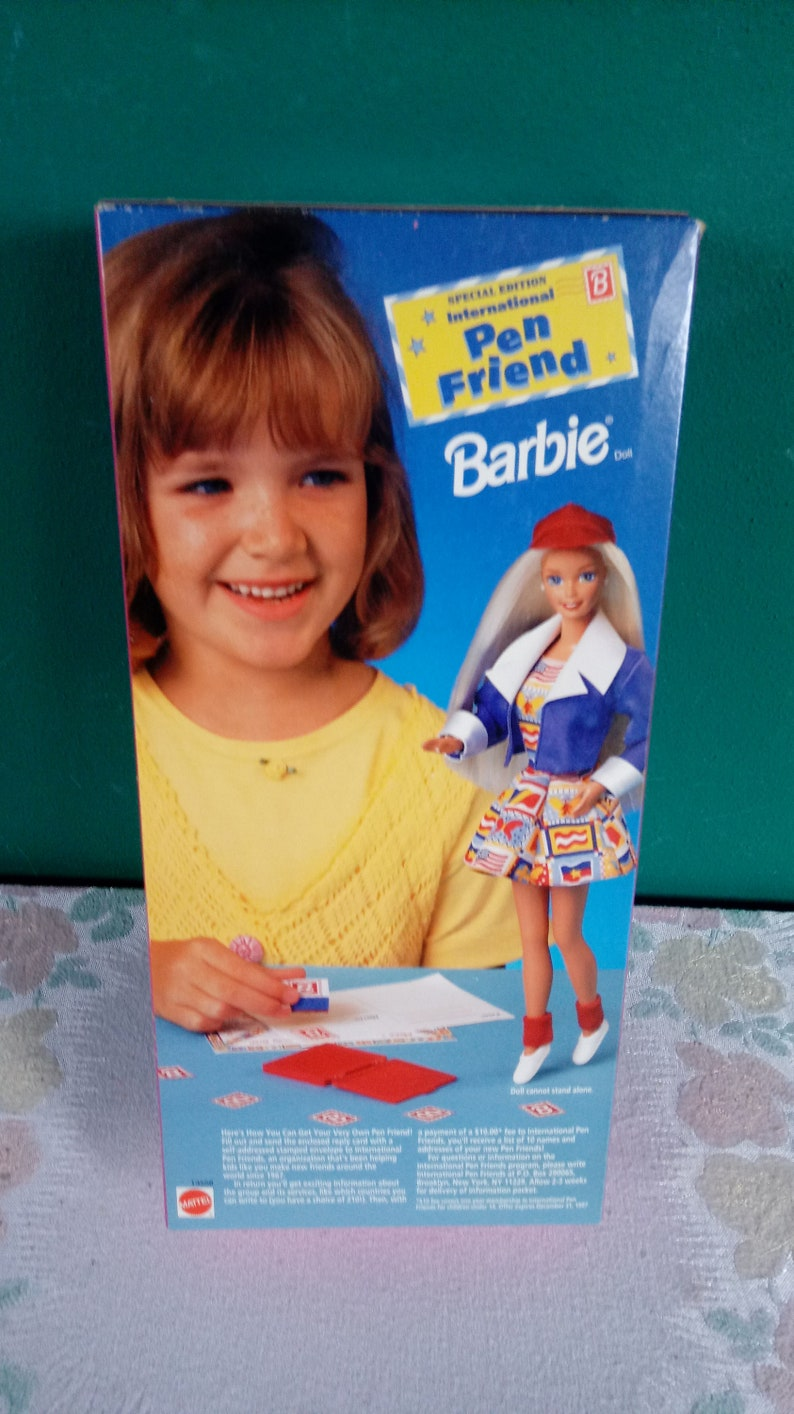 Mattel Barbie International Pen Pal Friend dated 1995