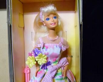 Spring Petals Barbie Doll Blonde Hair