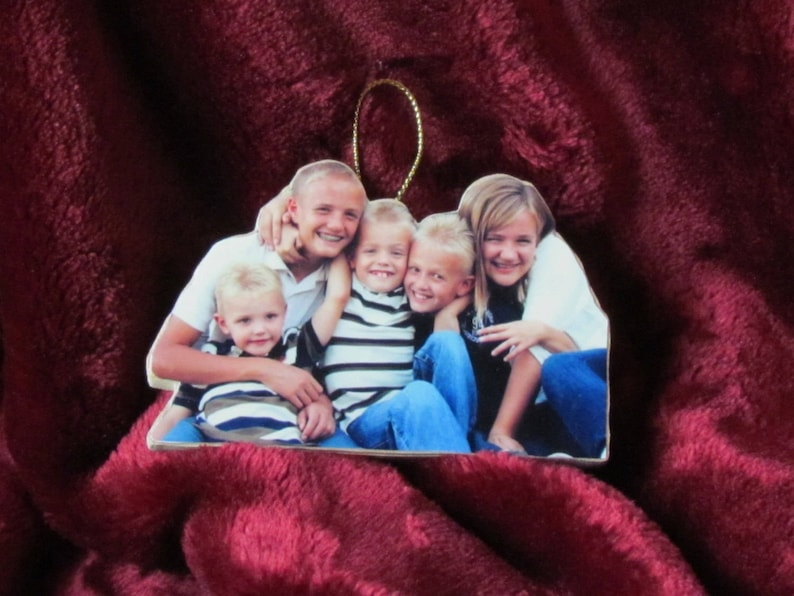 Personalized Photo Keychains Personalized Father/'s Day Gifts Gift for dad. Children/'s artwork display Personalized Photo Ornaments