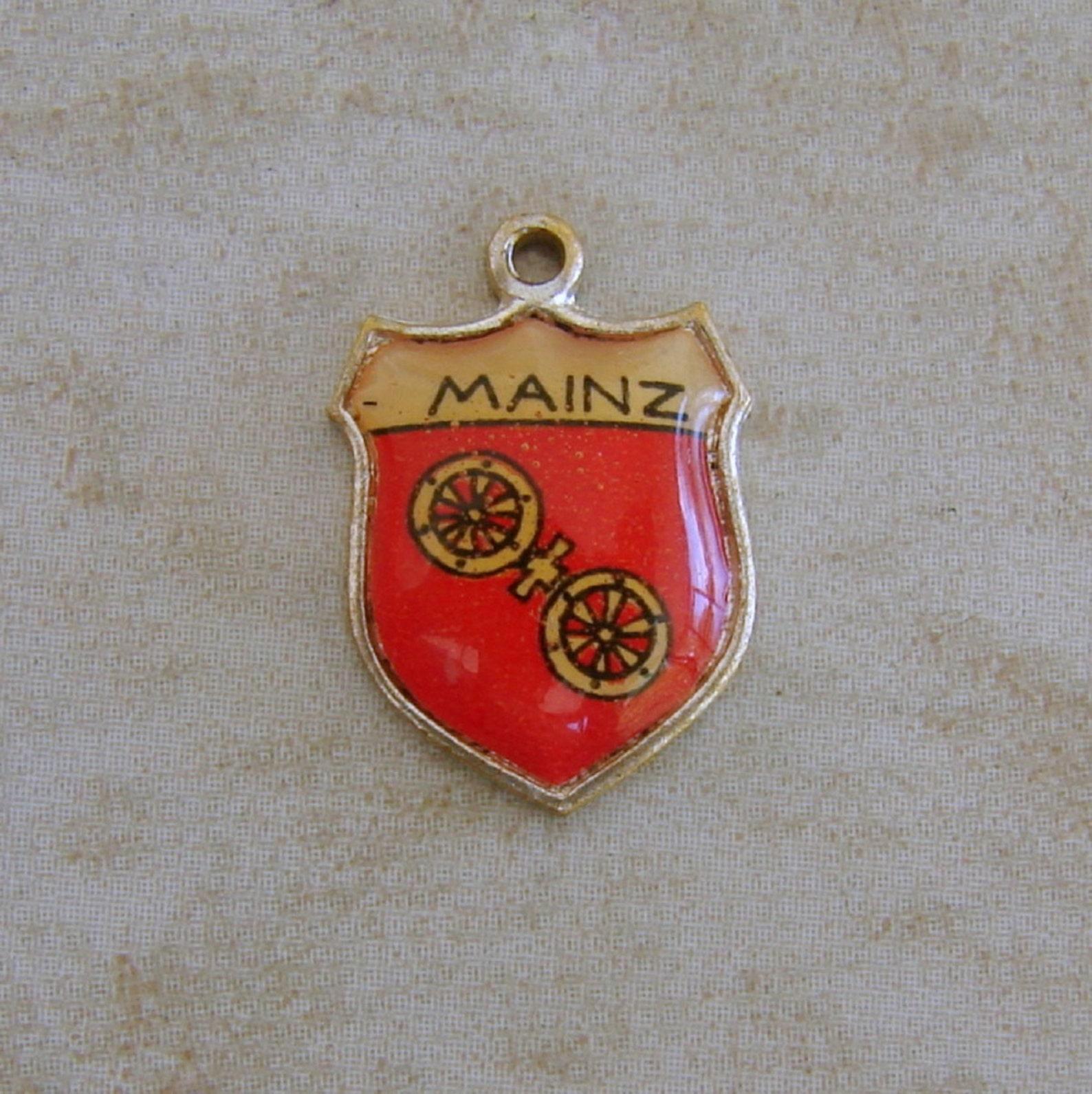 Mainz Germany Enamel Travel Shield