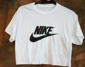 214c201851bd3 Sassy customised nike crop top urban swag festival style one size
