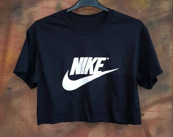 ed4a7db82fa8d Sassy customised nike crop top urban swag festival style one size