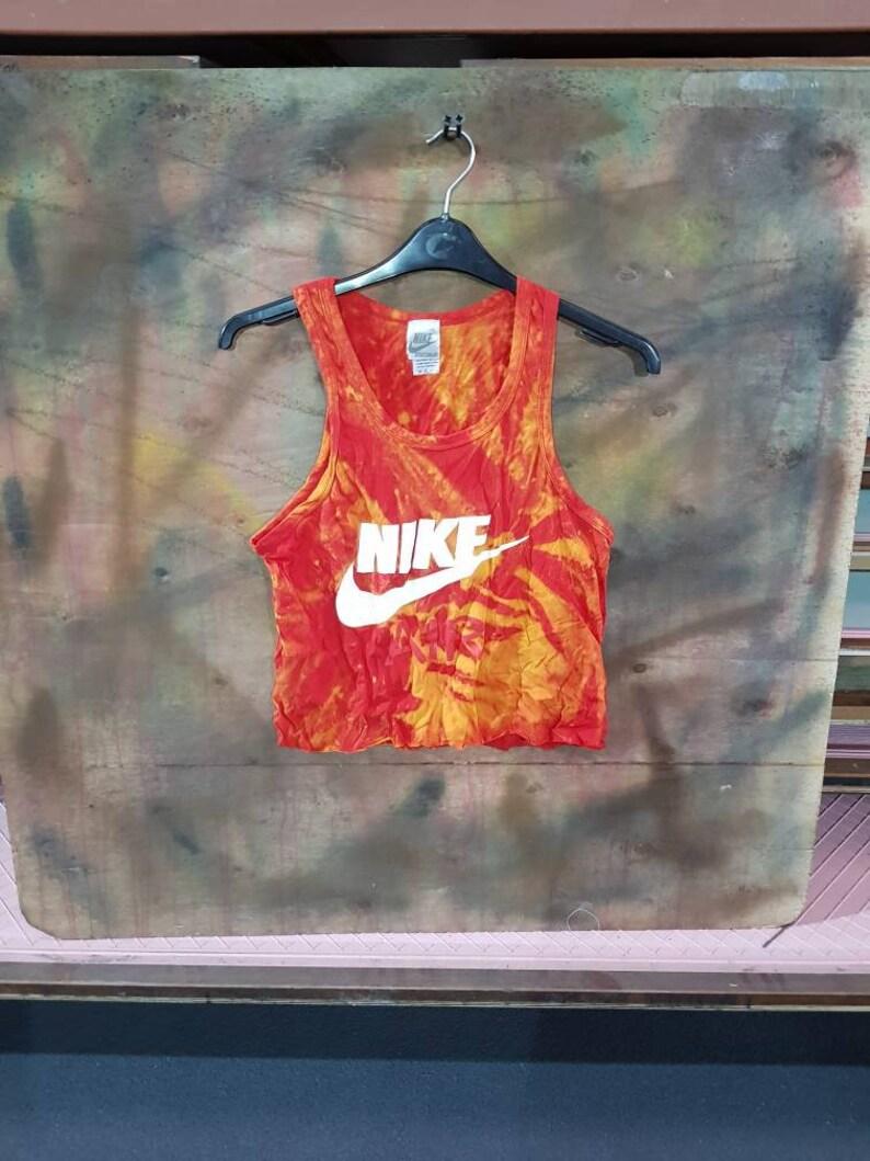 5629db14c160 Sassy customised tie dye nike crop top tshirt urban swag