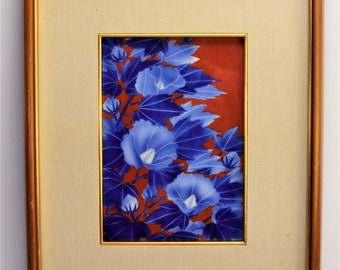 Vintage Fukagawa Picture Lilly Motif Framed Tile Free Shipping
