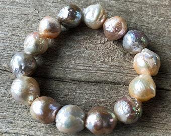 Freshwater Puff Pearl Grounding Bracelet