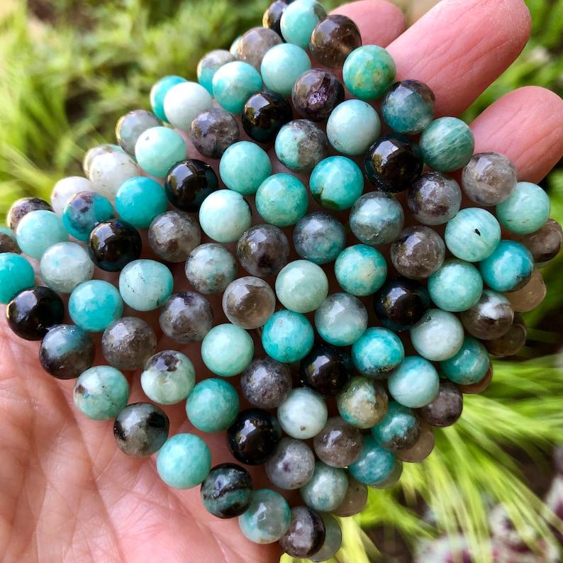 Amazonite and Shungite Grounding Bracelet