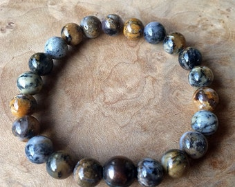 SALE-Dendritic Agate and Copper Grounding Bracelet