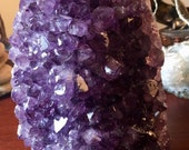 Polished Amethyst from Uruguay crystal  cluster geode E1911