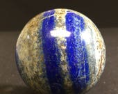 Luscious Lapis Lazuli sphere orb geode crystal ball E180022