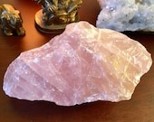 Raw Rose Quartz crystal geode healing cluster E19115
