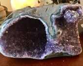 Polished Amethyst from Uruguay crystal  cluster geode E19118