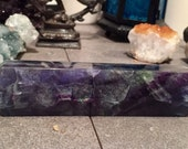 Fluorite double terminated crystal point generator wand geode E17024FL1