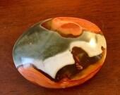 Polychrome Jasper Sculpture palm stone specimen E180715