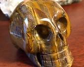 Tigers Eye Crystal Skull ...