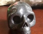 Hematite Crystal Skull geode head E1808873