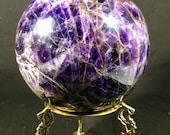 SALE!!  Enormous Amethyst Sphere globe geode crystal ball E180680