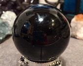 Obsidian Sphere crystal ball orb geode
