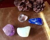 Air Elemental pocket crystal stone set tumbled
