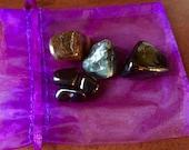 Dispel Negativity pocket crystal stone set geode healing