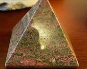 Unakite crystal pyramid g...