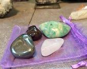 Hope pocket crystal stone set tumbled