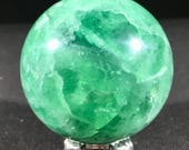 Green Fluorite Sphere orb...