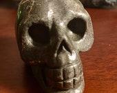 Pyrite Crystal Skull geode head E180877