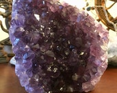 Polished Amethyst from Uruguay crystal cleansing charging cluster geode E180812