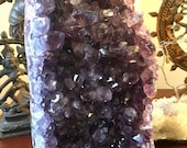 Polished Amethyst from Uruguay crystal cleansing charging cluster geode E180801