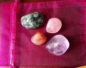 Love pocket crystal stone set