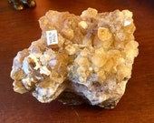 Yellow Citrine Crystal cluster geode prosperity E1940