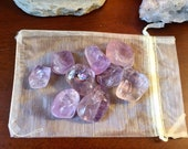 One quarter pound of Amethyst wholesale tumbled stones clusters geode druze crystal