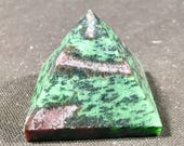 Gorgeous Ruby and Zoisite pyramid crystal geode E1800196
