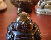 Tigers Eye Crystal Buddha geode figurine statue   E1917