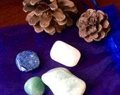 Water Elemental pocket stone set tumbled