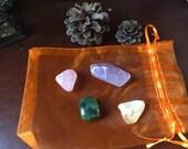 Abundance of Happiness pocket crystal stone set