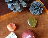 Fire Elemental pocket crystal stone set tumbled