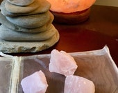 3 Rose Quartz crystal geo...