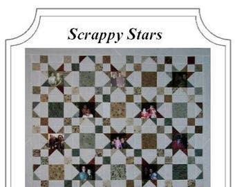 Digital Photo Quilt Pattern - Scrappy Stars