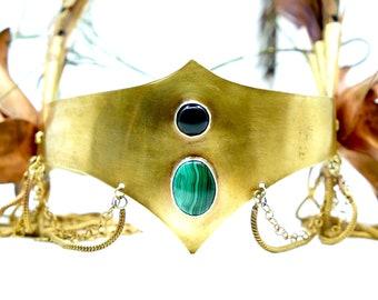 Lilja, Brass & Copper Crown, Feather headdress, Performance arts, Tribal Fusion, organik mechanik