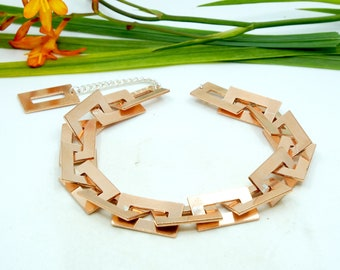 Nexus, copper choker necklace, link necklace, Organik Mechanik