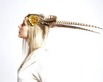Spectacular flower headband, Festival head wear, flower of life head pice, butterfly head piece, forest nymph, tribal wear, steampunk.