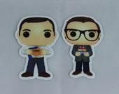 Custom Funko Pop! Stickers/Magnets of Pete & Chasten Buttigieg (Set of 2)