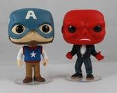 Custom Funko Pop! of 1950's Captain America and Red Skull